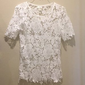 Tops - Brand New Crochet White Top